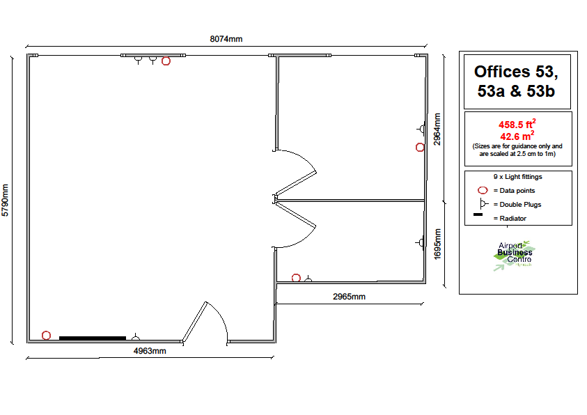 6 Person Office – Office 53, 53a & 53b